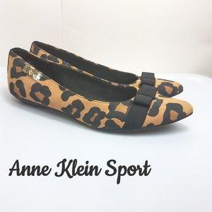 Anne Klein Sport leopard print flats 7.5